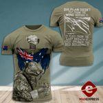 AH Australian Veterans TSHIRT 3D PRINTED SEP-MA06