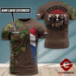 AH Personalized Netherland Veterans TSHIRT 3D PRINTED SEP-DT07