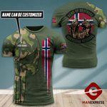 AH Personalized Norway Veterans TSHIRT 3D PRINTED SEP-DT07