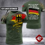 AH Personalized German Veterans TSHIRT 3D PRINTED AUG-DT09
