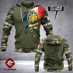 French Army Hoodie 3D Print NMQ0909