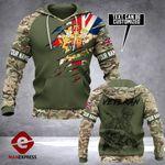 UK Army Hoodie 3D Print NMQ0909