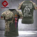 UK Soldier Tshirt 3D Print PDT0909