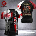 Canadian Patriot Evil Men Tshirt 3D Print 0909HVQ