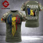 Romania Flag Combat Tshirt 110921TMA