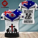 AH Australian Veterans TSHIRT 3D PRINTED SEP-DT13