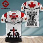 AH Canadian Veterans TSHIRT 3D PRINTED SEP-DT13