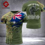 AH Australian Soldier TSHIRT 3D PRINTED SEP-QH17