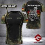 Customized  German Soldier Tshirt Camo 200921PDT