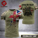 AH Personalized British Veterans TSHIRT 3D PRINTED SEP-QH20