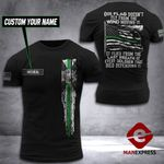 AH Personalized Florida Thin Green Line TSHIRT 3D PRINTED SEP-DT20