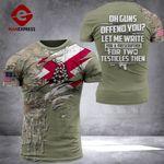 AH Alabama Patriots TSHIRT 3D PRINTED SEP-QH21