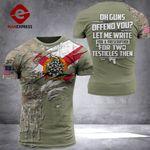 AH Florida Patriots TSHIRT 3D PRINTED SEP-QH21