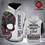 January Girl Hoodie 3D Print 2709LTN