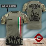 Customized Italian Veteran Tshirt 3D Print 290921PDT