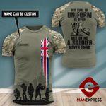 Customized British Veteran Tshirt 3D Print 290921PDT