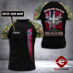 Customized Norway Soldier Tshirt 3D Print 290921TMA