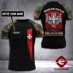 Customized Swiss Soldier Tshirt 3D Print 290921TMA