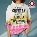A Little Country A Little Hood Wyoming Hoodie 3D TMA1110