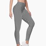 Mid-Rise B&W polka dots Leggings