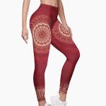 Mandala Red Leggings