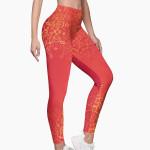 Mandala Premium Red Leggings
