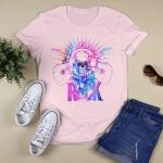Rock Shirt - Rock T-shirt - Guitar Tees - Unisex - Electric Shirts - Rock Guitar Gift Idea - Rock Electric Week Gift - Gradient skull