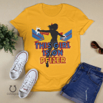 Captain Vaccinated Shirt, This Girl Is On Pfizer Tshirt, Vaccinated AF Tee for Her, Pro Vaccine, Gift For Mom, Sarcastic Shirt for Women