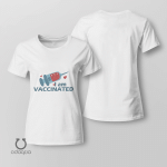 I'm Vaccinated Shirt, Vaccinated AF Tee for Her, Pro Vaccine, Gift For Mom, Sarcastic Shirt for Women