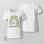 Don't Worry, I'm Vaccinated Shirt, Vaccinated AF Tee for Her, Pro Vaccine, Gift For Mom, Sarcastic Shirt for Women, no 801