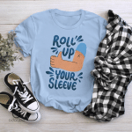 Roll Up Your Sleeve Shirt, Vaccinated AF Tee for Her, Pro Vaccine, Gift For Mom, Sarcastic Shirt for Women