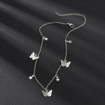 Bohemian Cute Butterfly Choker Necklace For Women Gold Silver Color Clavicle Chain 2020 Fashion Female Chic Chocker Jewelry
