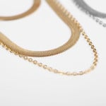 2020 New Vintage Boho Fashion  Necklaces For Women Necklace Multi-level Golden Silver Color Snake Chain Jewelry Party Gift