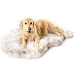 PawRoll™ Faux Fur Orthopedic Dog Bed