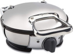 WD700162 Stainless Steel Classic Round Waffle Maker with 7 Browning Settings, 4-Section