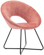 Velvet Upholstered Back Chair Dining Chair Living Room Furniture Armchair Mid Century Lounge Chair with