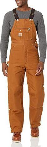 Men's Quilt Lined Zip To Thigh Bib Overalls