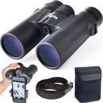 10x42 Roof Prism Binoculars for Adults, HD Professional Binoculars for Bird Watching Travel Stargazing Hunting Concerts Sports-BAK4 Prism FMC Lens-with Phone Mount Strap Carrying Bag