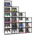 Clear Plastic Stackable Shoe Box Womens Mens, Shoe Storage Boxes, Plastic Stackable Shoe Box