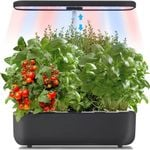 Hydroponic Growing System, Indoor Herb Garden with LED Grow Light