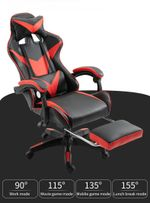 Gaming Chair with Footrest, Recliner Computer Chair, Gamer Chair with Massage, High Back Gaming Desk Chair, Ergonomic Gaming Computer Chair, Big and Tall Gaming Chairs for Adults
