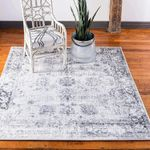 Sofia Collection Area Traditional Vintage Rug, French Inspired Perfect for All Home Décor, 8' 0 x 8' 0 Square
