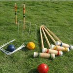Premium Wooden Croquet 4 Players Game Set