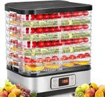 Food Dehydrator Machine with Digital Timer and Temperature Control, 8 Trays Dehydrators for Food and Jerky, Meat, Fruit, Vegetable, Herbs, BPA Free/400 Watt