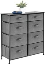 Storage Dresser Furniture, Tall Chest Tower Organizer for Bedroom, Hallway, Entryway, Kid Room, Nursery and Closet Organization, 10 Fabric Drawer for Clothes, Sturdy Steel Frame