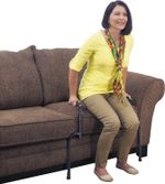 Universal Stand Assist, Adjustable Standing Mobility Aid, Couch Assist Grab Bars with Cushioned Support Handles, Independent Living Aid