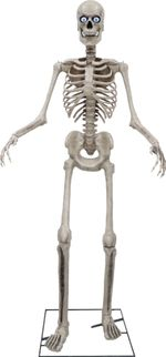 Halloween Sale 8ft Towering Skeleton with posable arms moving jaw