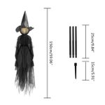 Lighted Halloween Witch Stake For Halloween Decoration