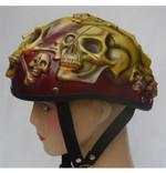 3D Airbrush Skull Helmet Handmade Halloween Mask