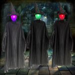Halloween Witch - Set Of Three Holding Hands Witches Decoration